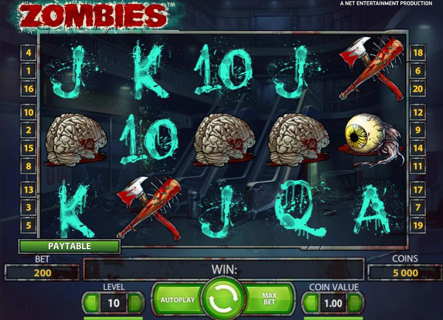Make Intense Spins With Zombies Online Slot